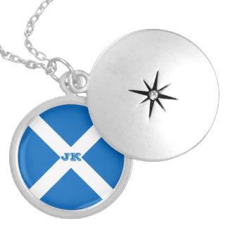 Flagge von Schottland oder von Saltire Medaillon