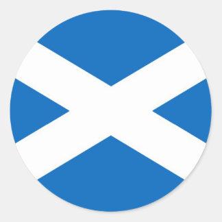 Flagge von Schottland oder von Saltire Runder Aufkleber