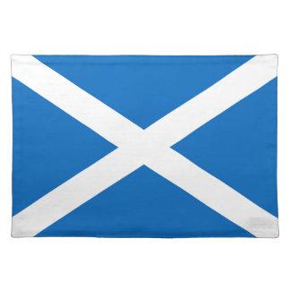Flagge von Schottland oder von Saltire Stofftischset