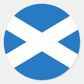 Flagge von Schottland - schottische Flagge Runder Aufkleber
