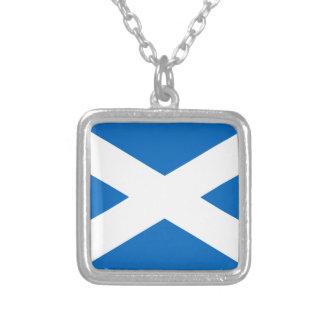 Flagge von Schottland - schottische Flagge Versilberte Kette