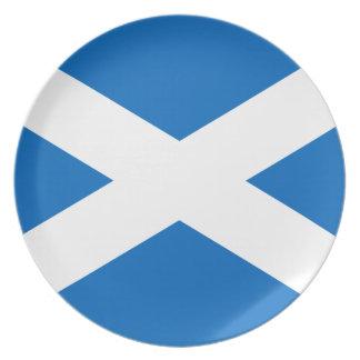 Flagge von Schottland Teller