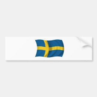 Flagge von Schweden Autoaufkleber