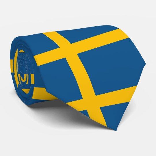 Flagge von Schweden Bedruckte Krawatte