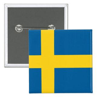 Flagge von Schweden Anstecknadelbuttons