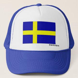 Flagge von Schweden-Hut Truckerkappe