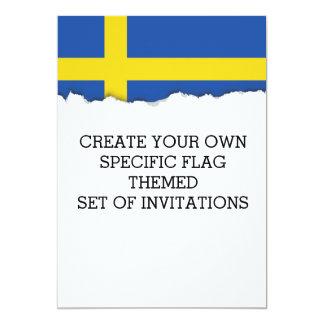 Flagge von Schweden Karte