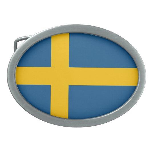 Flagge von Schweden Ovale Gürtelschnallen