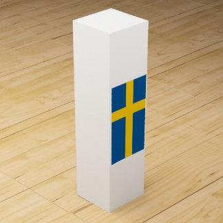 Flagge von Schweden Weinbox