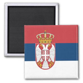 Flagge von Serbien-Magneten Quadratischer Magnet