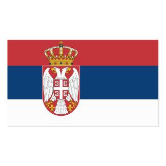 Flagge von Serbien-Visitenkarten
