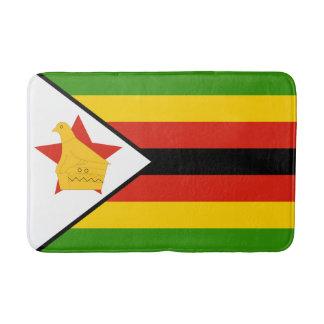Flagge von Simbabwe Afrika Badematte