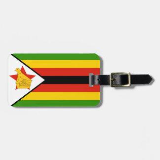 Flagge von Simbabwe Afrika Gepäckanhänger