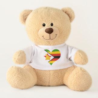 Flagge von Simbabwe Afrika Teddy
