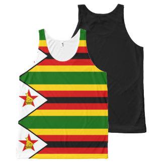 Flagge von Simbabwe - Simbabwer - Mureza Komplett Bedrucktes Tanktop