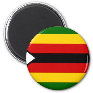 Flagge von Simbabwe - Simbabwer - Mureza Runder Magnet 5,7 Cm