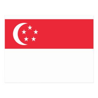 Flagge von Singapur - 新加坡国旗 - Bendera Singapura Postkarte