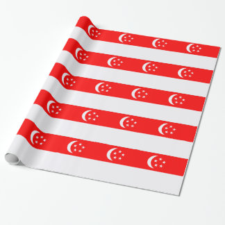 Flagge von Singapur Geschenkpapier