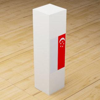 Flagge von Singapur Weinbox