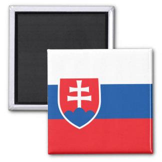 Flagge von Slowakei-Magneten Quadratischer Magnet