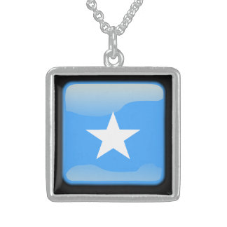 Flagge von Somalia Sterling Silberkette