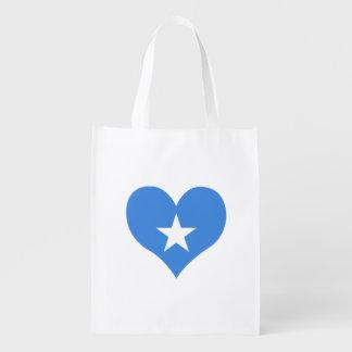 Flagge von somalischem auf Metallhintergrund