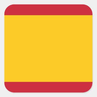 Flagge von Spanien, Bandera de España, Bandera Quadratischer Aufkleber