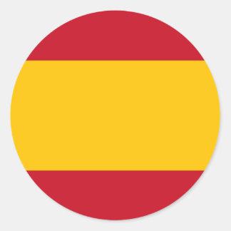 Flagge von Spanien, Bandera de España, Bandera Runder Aufkleber