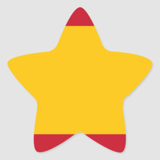 Flagge von Spanien, Bandera de España, Bandera Stern-Aufkleber