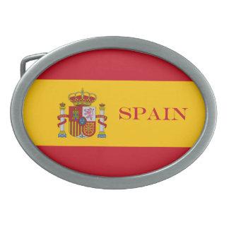 Flagge von Spanien - Bandera de Espana Ovale Gürtelschnalle