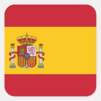 Flagge von Spanien - Bandera de Espana Quadratischer Aufkleber