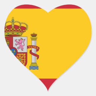 Flagge von Spanien - Bandera de España - spanische Herz-Aufkleber