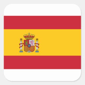 Flagge von Spanien - Bandera de España - spanische Quadratischer Aufkleber