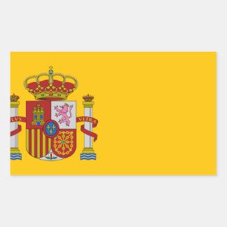 Flagge von Spanien - Bandera de España - spanische Rechteckiger Aufkleber