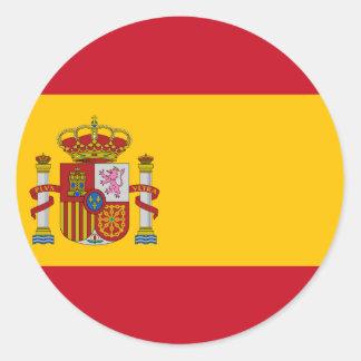 Flagge von Spanien - Bandera de España - spanische Runder Aufkleber