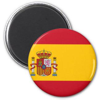 Flagge von Spanien - Bandera de España - spanische Runder Magnet 5,1 Cm
