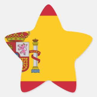 Flagge von Spanien - Bandera de España - spanische Stern-Aufkleber