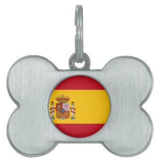 Flagge von Spanien - Bandera de España - spanische Tiermarke