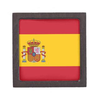 Flagge von Spanien Kiste