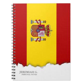 Flagge von Spanien Notizblock