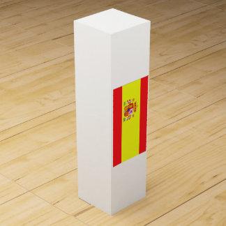 Flagge von Spanien Weinbox