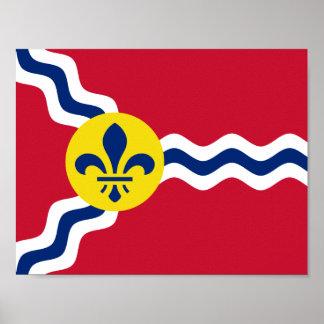 Flagge von St. Louis, Missouri Poster