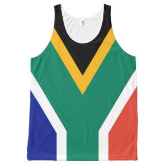 Flagge von Südafrika Bokke Komplett Bedrucktes Tanktop