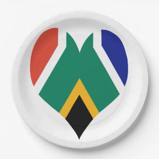 Flagge von Südafrika Bokke Pappteller
