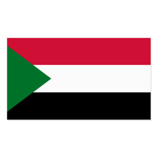 Flagge von Sudan-Visitenkarten Visitenkarten
