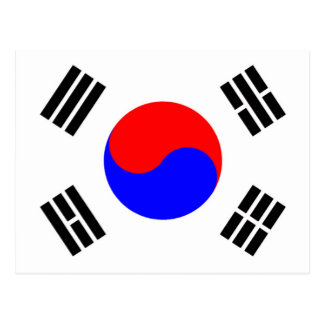 Flagge von Südkorea Postkarte