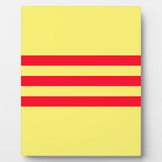 Flagge von Südvietnam Fotoplatte