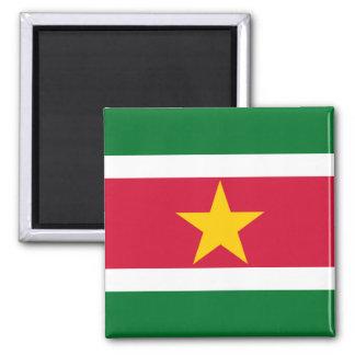 Flagge von Surinam-Magneten Quadratischer Magnet