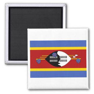 Flagge von Swasiland Quadratischer Magnet