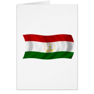 Flagge von Tadschikistan Karte